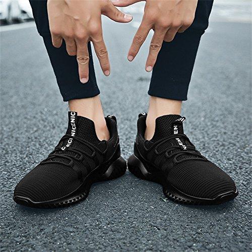 Traspirante 2 Leggere Running Sneakers TUOKING Scarpe Moda da Scarpe Nero da Corsa Ginnastica Sportive Uomo xgA7Hfq