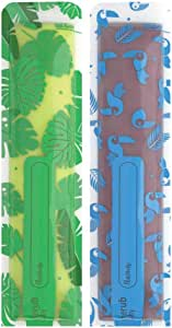 Cherub Baby Reusable Freeze n Squeeze Ice Pop Pouch with Collapsible Funnel, Green/Blue, 20 Piece