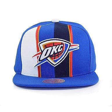 size 40 c1eea aa998 Mitchell   Ness Oklahoma City Thunder Blue Adjustable Shorts Split Snapback  Hat