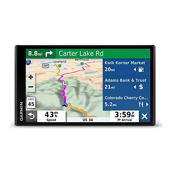 """Garmin DriveSmart 65 & Traffic: GPS Navigator with a 6 95"""" Display,  Hands-Free Calling, Included Traffic alerts and Information to enrich Road  Trips"""