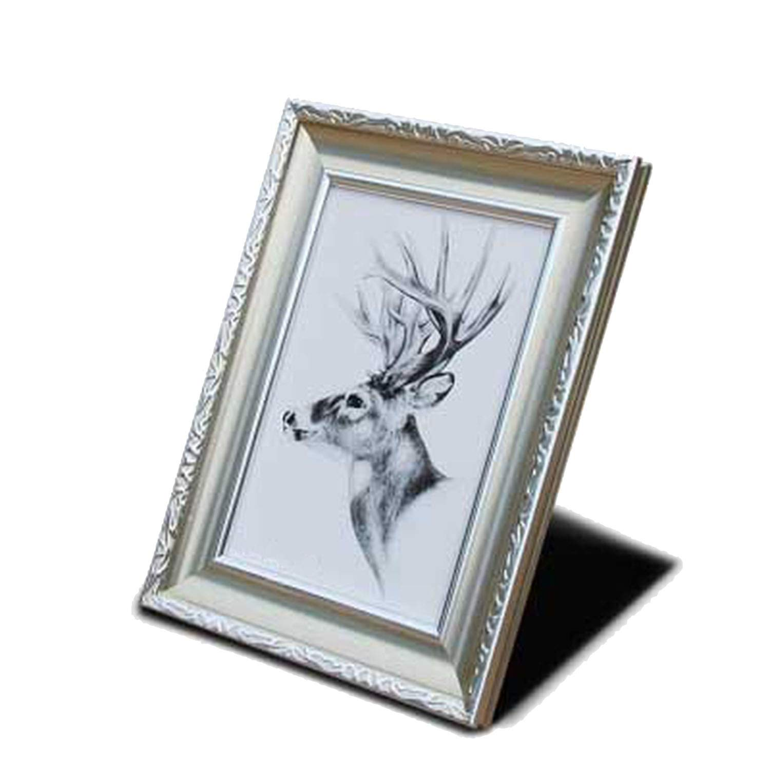 craft and down Photo Frame Wall Frame Friendly Environmental Resin Photo Frame Vintage Color Frame on Table Living Room Bedroom Home Decor,03,12.7x8.9cm