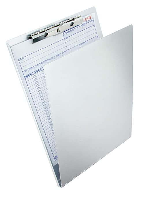 Saunders Recycled Aluminum Clipboard With Privacy Cover, Letter Size, 8.5 X  12 Inches