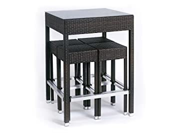 Hemisphere - Ensemble Alto - Table haute + 4 tabourets: Amazon.fr ...