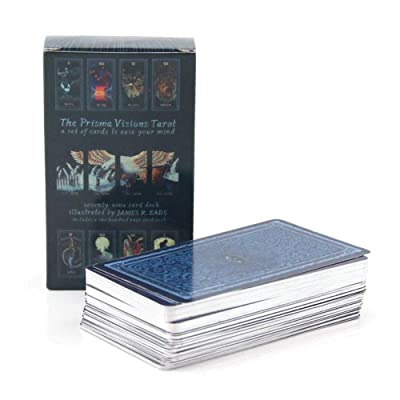 78pcs Tarot Cards Silver Plated Cards English Version Tarot Deck Board Game for Fun: Toys & Games
