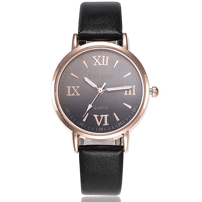 Bestow YOLAKO Reloj de Pulsera de Cuarzo Anal¨gico Reloj de Pulsera de Cuero de