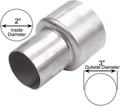 """2.25/"""" 2 1//4/"""" ID to 3/"""" OD inch Exhaust Pipe to Component Adapter Reducer"""