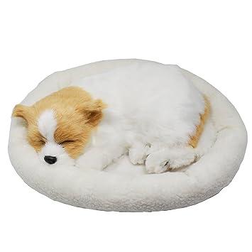 Perro cachorro que respira Peluche de juguete con cama, 26cm (Chihuahua)