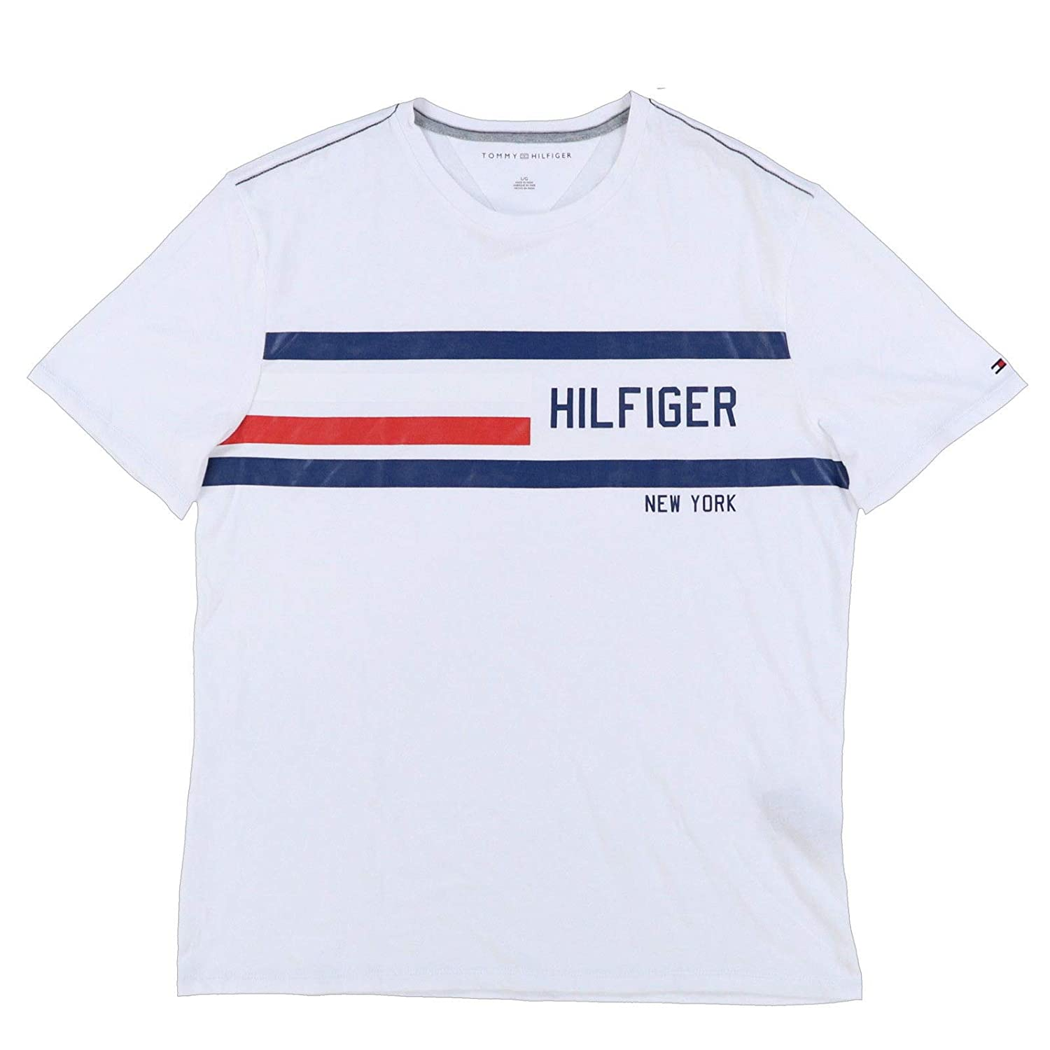 61ccb724 Amazon.com: Tommy Hilfiger Mens Classic Fit Big Logo T-Shirt: Clothing