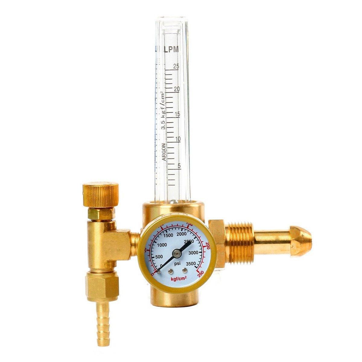 Yaetek Argon CO2 Mig Tig Flow meter Welding Weld Regulator Gauge Gas Welder freebirdtrading SH-0009