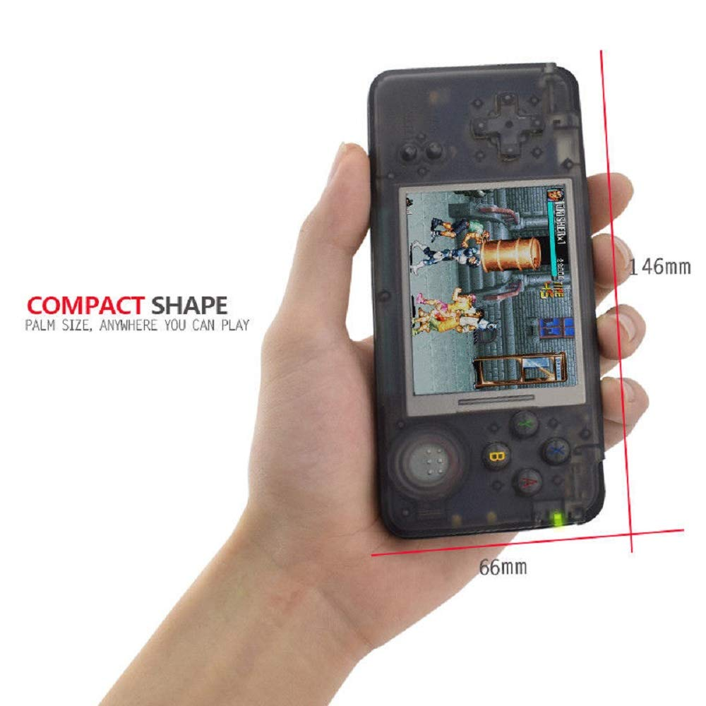 Handheld Game Console, Retro Game Console 3 Inch HD Screen 3000 Classic Game Console ,Portable Video Game Great Gift for Kids (Black) by BAORUITENG (Image #7)