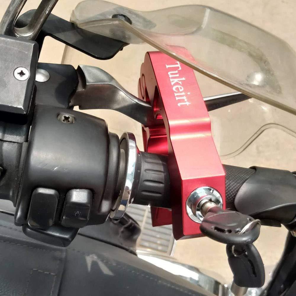 Motorcycle Handlebar Lock Secure Your Motorcycle,Moped,Bike,ATV in Under 5 Seconds Grip//Throttle//Brake//Handlebar Lock CNC Made Aluminium Alloy 0.95 lb Bule