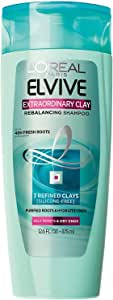 L'Oréal Paris Elvive Extraordinary Clay Rebalancing Shampoo, 12.6 fl. oz. (Packaging May Vary)