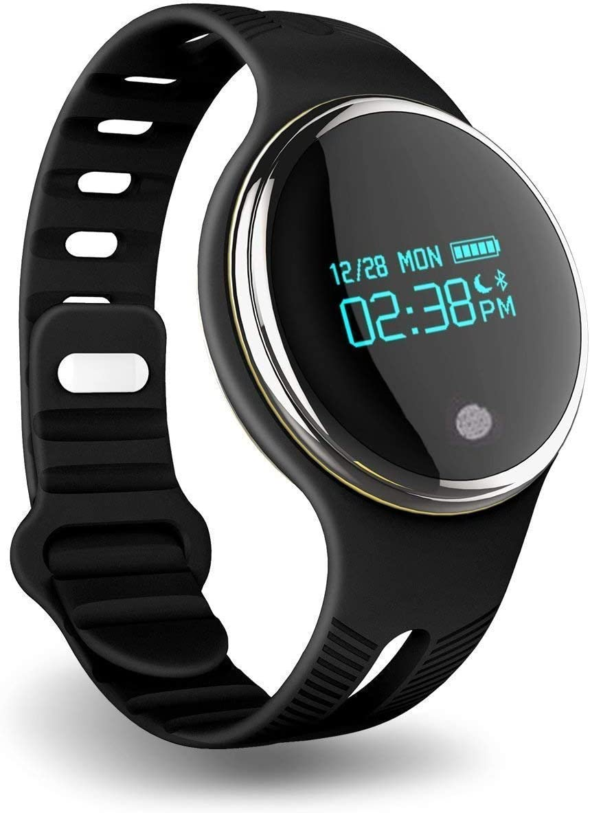 PINGKO Pedometer Activity Tracker Sleep Monitor Watch, Fitness Tracker with IP67 Waterproof OLED Screen Touch Button Bluetooth Smart Wristband GPS ...