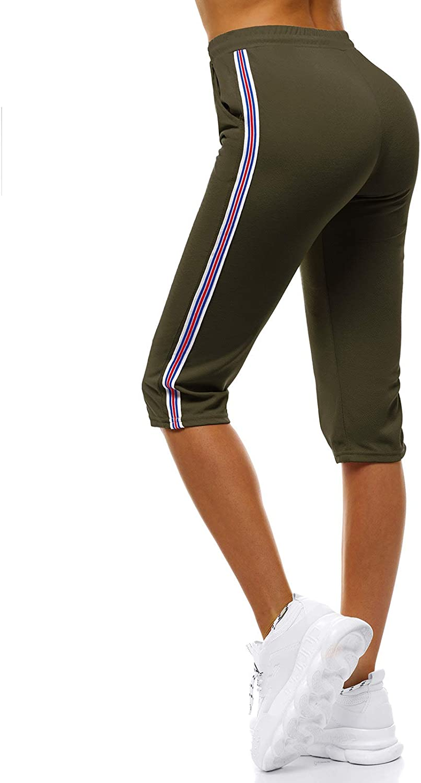 OZONEE Damen Jogginghose Hose Trainingshose Sporthose Freizeithose Motiv Damenhose Fitnesshose Sweatpants Sweathose Fu/ßballhose Joggpants JS//1020//B