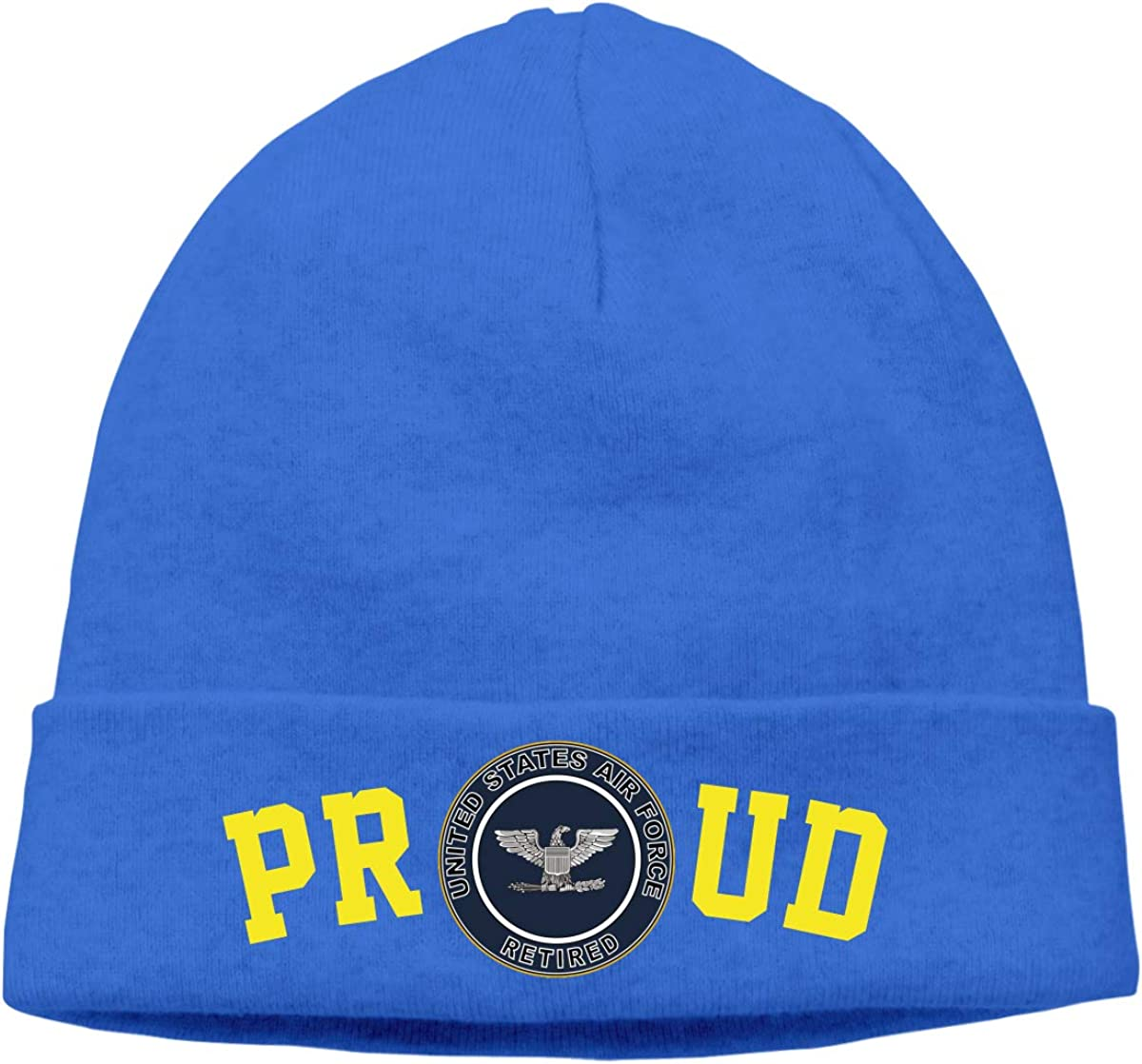 FORDSAN CP Proud US Air Force Retired Colonel Mens Beanie Cap Skull Cap Winter Warm Knitting Hats.