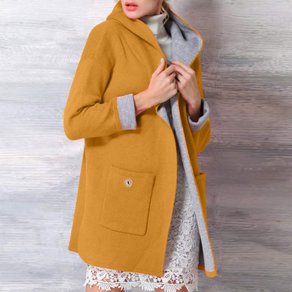 JURTEE 2019 Damen Winter Mantel Jacke Mittellang Gro/ße Gr/ö/ße Lose Vorne Offen Mantel M/äntel