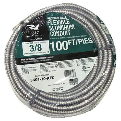 AFC CABLE SYSTEMS 5601-30-AFC 0 3/8' x100' ALU Conduit