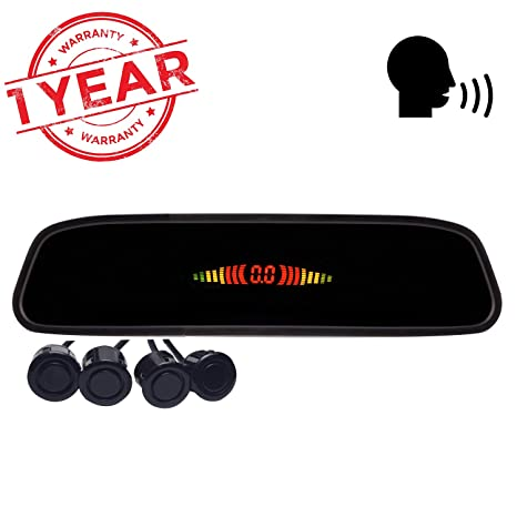 Blackcat Car Reverse Parking Sensor and Screen LED in Mirror with