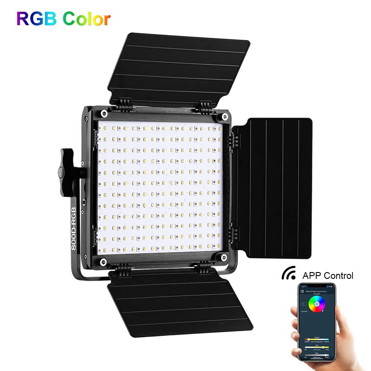 GVM RGB LED Video Light, 800D Studio Video Lights with APP Control, Video Light for YouTube Photography Lighting, Led Panel Video Light by GVM Great Video Maker