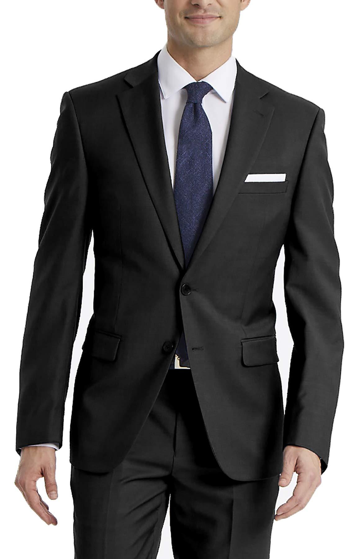 Calvin Klein Men's Slim Fit Stretch Suit Separates-Custom Jacket & Pant Size Selection, Black Jacket, 40 Regular by Calvin Klein