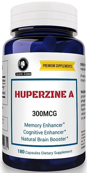 Amazon Com Huperzine A 300mcg 180 Capsules Nootropic Brain Booster