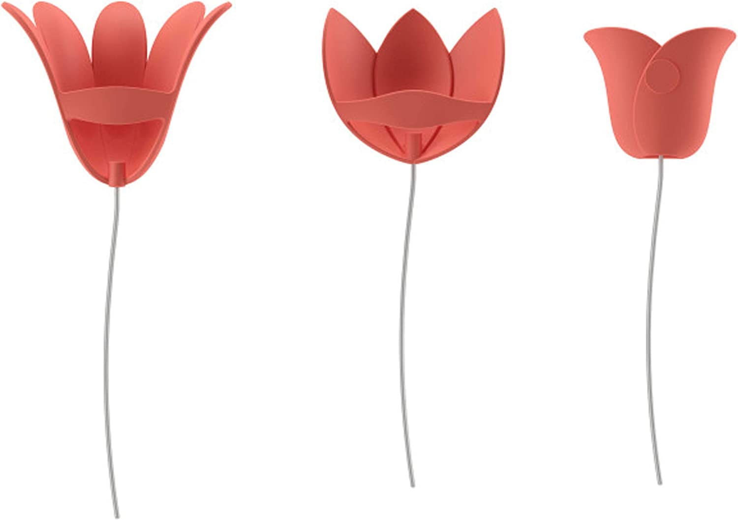 Umbra Bloomer Wall Décor, Set of 9, Coral