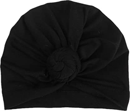 Femmes Turban Bun Knot Cap Bonnet Adulte Chapeau Photographie Chapeaux Noir