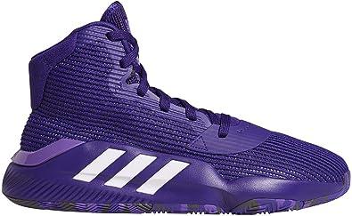 adidas Pro Bounce 2019 Shoe - Men's Basketball Collegiate Purple/White/Purple