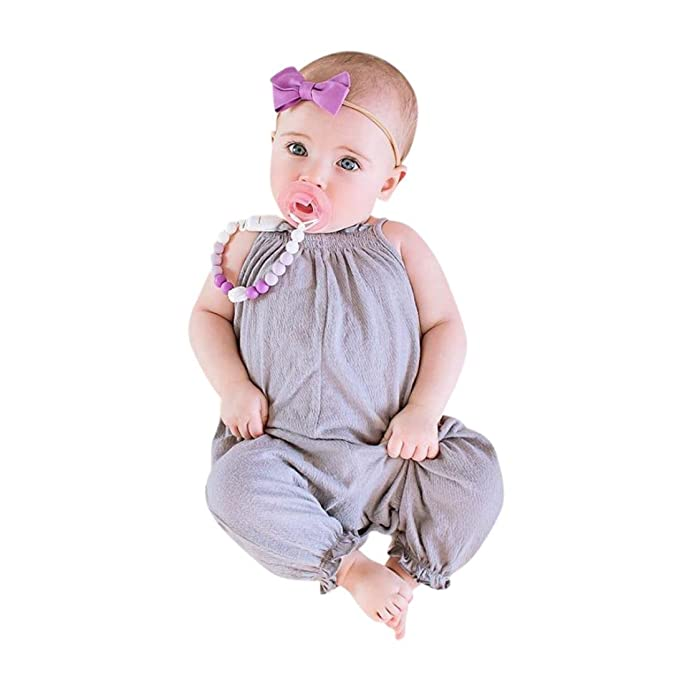 Toddler Kids Baby Girls Strap Romper Jumpsuit Harem Trousers Summer Clothes