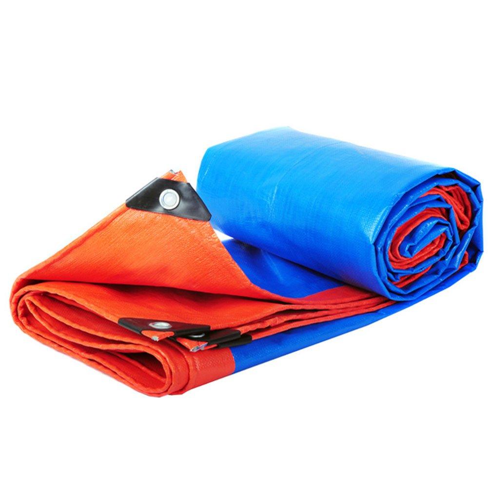 CHAOXIANG オーニング 防水 不凍液 耐高温性 耐摩耗性 厚い 耐食性 老化防止 軽量 PE 青、 180g/m 2、 10サイズ (色 : 青, サイズ さいず : 10x10m) B07DC55NJG  青 10x10m
