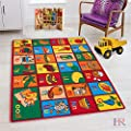 Hr 8x11 Kids Abc Fruits Non Slip Area Rug (7ft.4in X 10ft.4in) Please Check All The Pictures.