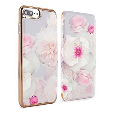 5abc3e1b534c6a Ted Baker AW17 Fashion Branded Mirror Folio Case for iPhone 8 Plus 7 Plus -