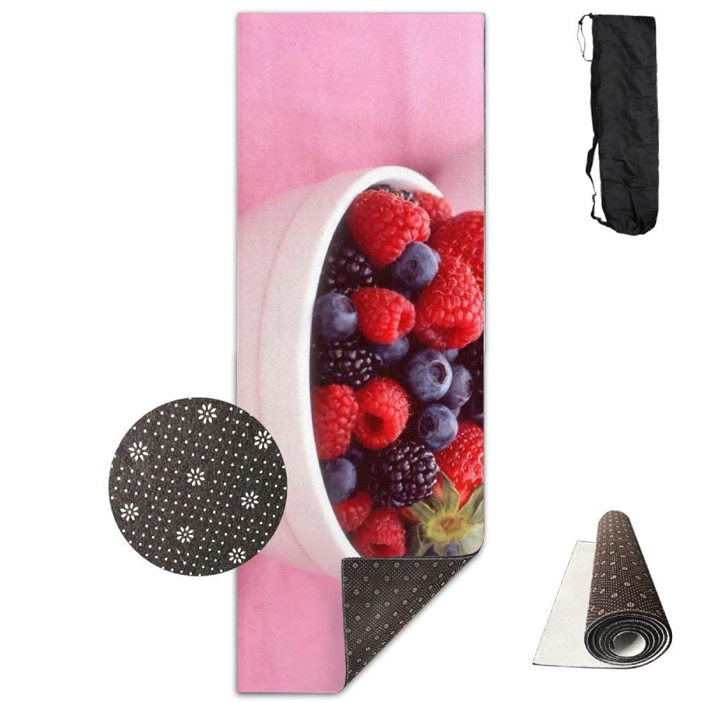 Berry Bowl Raspberries Strawberries Blackberries ECO Aqua Power Kinematic Iyengar Kundini Hot Pilates Gymnastics Hatha Yoga Mat Exercise Mat