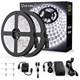 Onforu 65.6ft LED Strip Light, 6000K Daylight White Dimmable Tape Light, 20m 12v Flexible Ribbon Light, 2835 LEDs Rope…