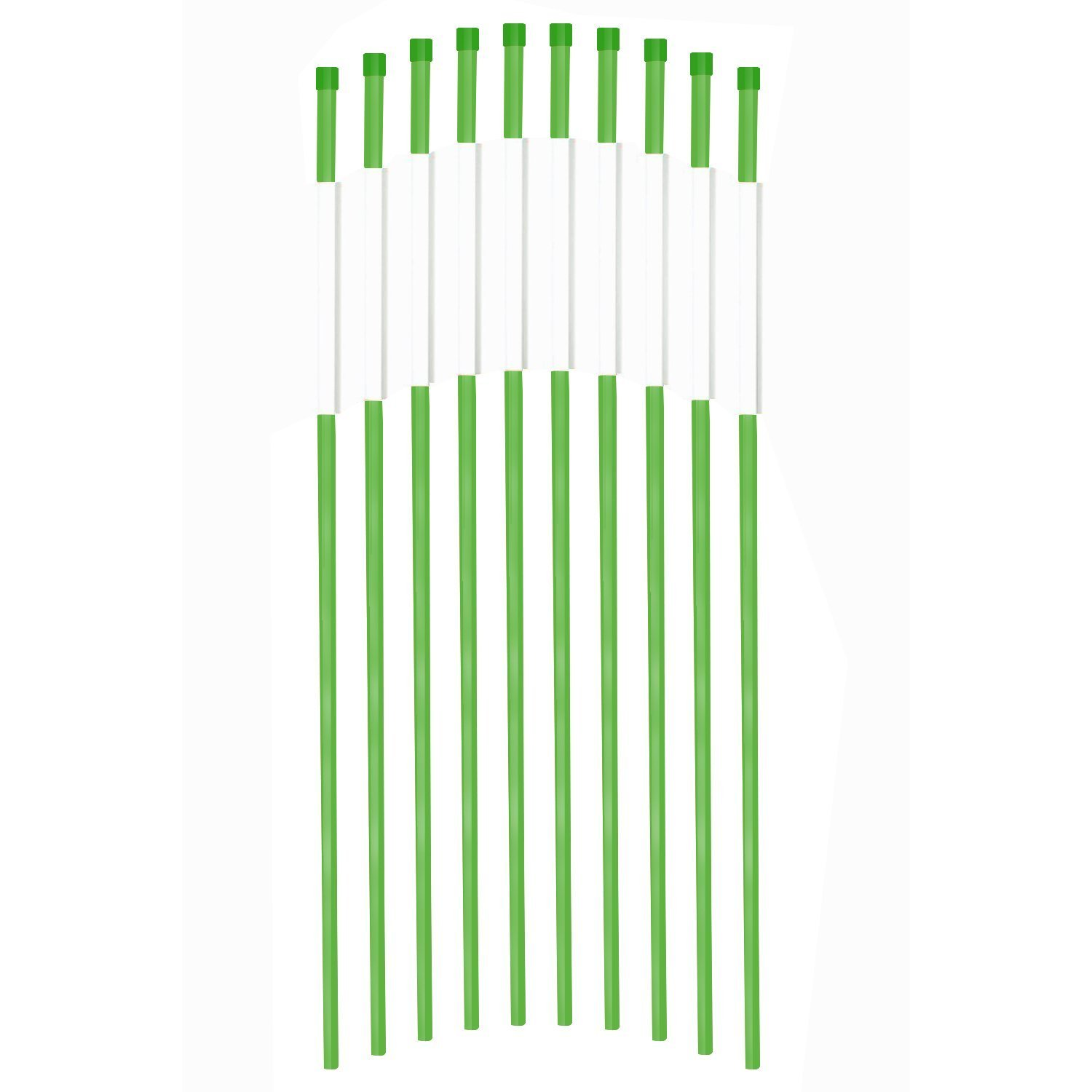 FiberMarker Reflective Driveway Markers 48-Inch Green 100-Pack Hollow 1/4-Inch Dia Driveway Poles for Easy Visibility at Night
