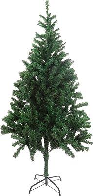 DECORA 6 Feet Premium Hinged Artificial Christmas Tree Evergreen Pine Christmas Tree 600 Tips Full Christmas Tree with Solid Metal Legs