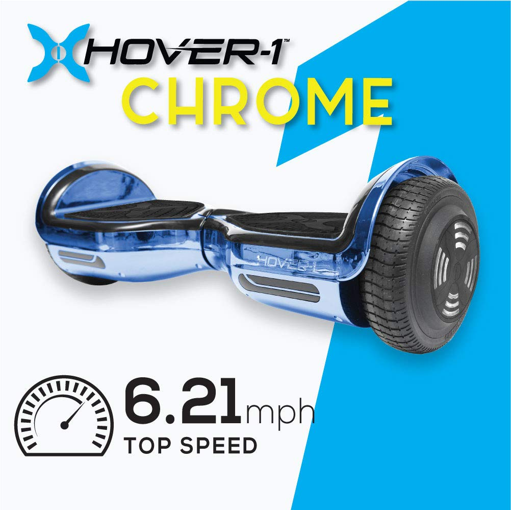 Hover-1 Chrome Self Balancing Electric Scooter Blue