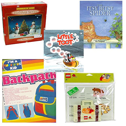 Children's Books, Puzzle, Backpack & Growth Chart Gift Bundle [5 Piece] Ages -