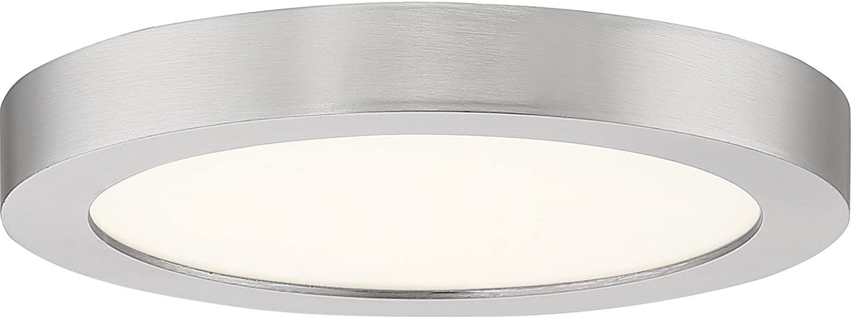Quoizel Ost1708bn Outskirt Modern Super Flush Mount Ceiling Lighting 1 Light Led 12 Watts Brushed Nickel 1 H X 8 W Home Improvement Amazon Com