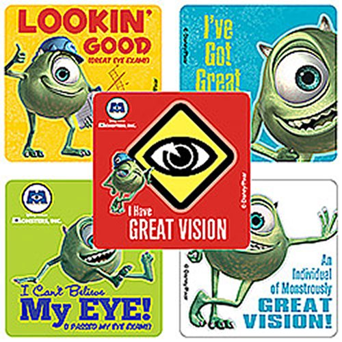 Disney Monsters, Inc. Eye Stickers - Party Favors - 100 Per Pack by SmileMakers