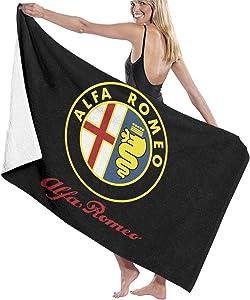 C-JOY Unisex Alfa Romeo Car Beach Towels Absorbent Pool Towel Bath Towel Travel Towel Washcloth 31x51 Inches