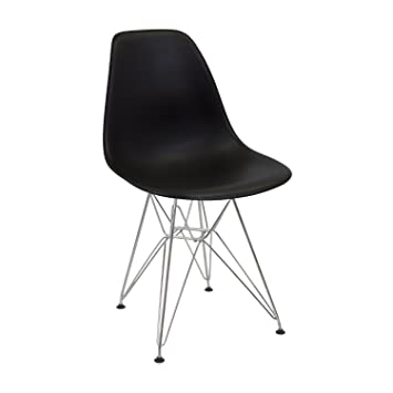 Vaukura Silla Eames - Silla Tower Metálica Negro