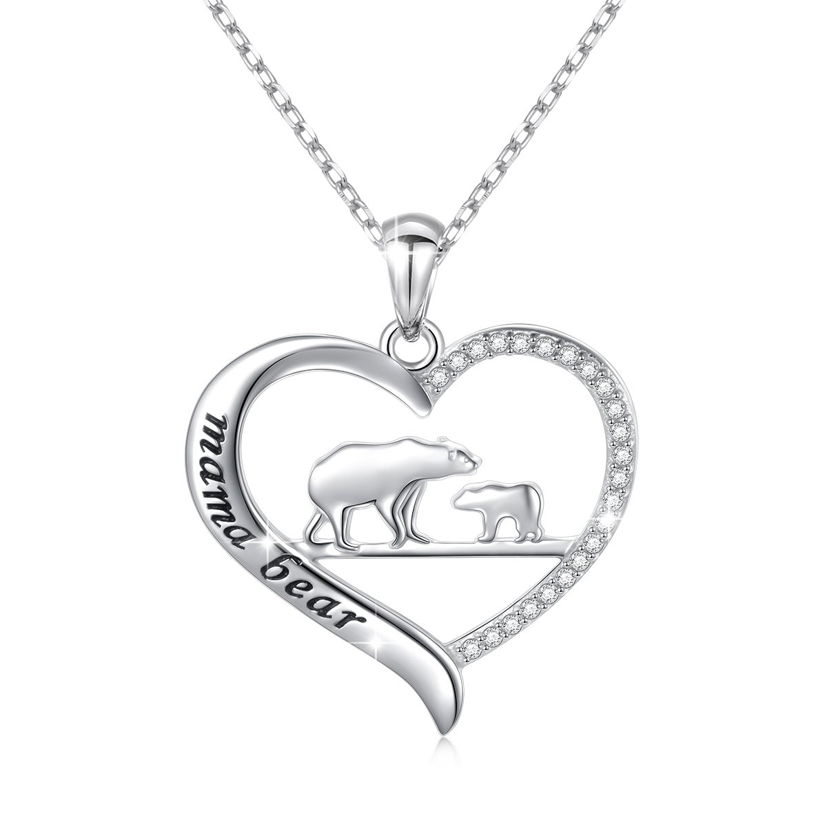 745656141ff8e Sterling Silver For Mom Necklace Mothers Day Gift Mama Bear Pendant  Necklace or Bracelet for Mum