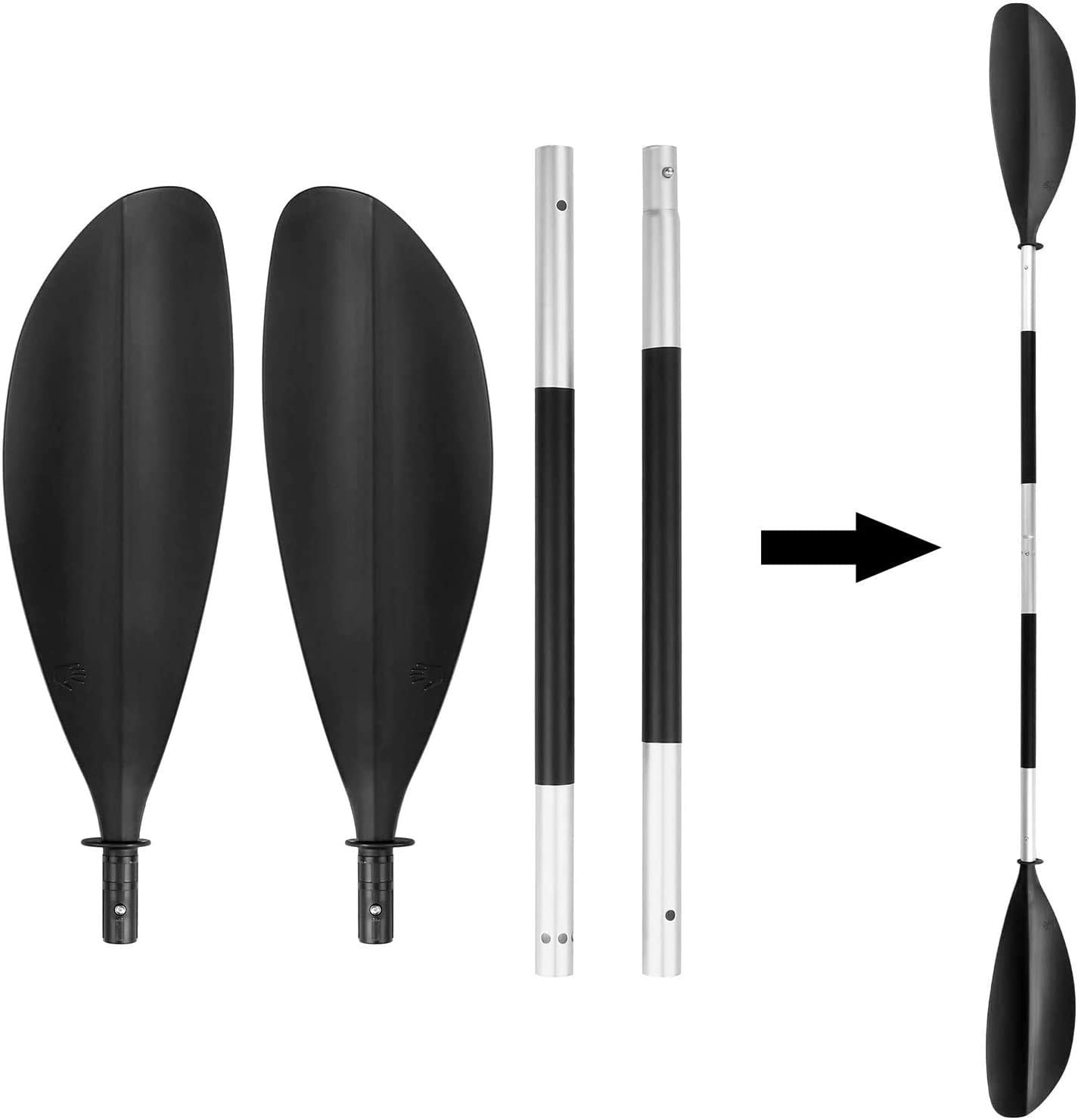 Pink Blade Kayak Paddle Carbon Fiber Shaft