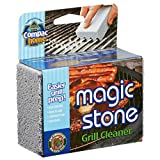 Compac's Magic-Stone Grill Cleaner Scrub - Scouring Brick/Barbecue Grill Brush/Barbecue Cleaner-Advanced Green Technology Easily Removes Stubborn Grime, Grease, from BBQ Grills, Griddles, Racks (1)
