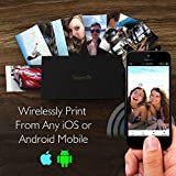 SereneLife Portable Instant Mobile Photo Printer - Wireless Color Picture Printing from Apple iPhone, iPad or Android Smartphone Camera - Mini Compact Pocket Size Easy for Travel - PICKIT22BK (Black)