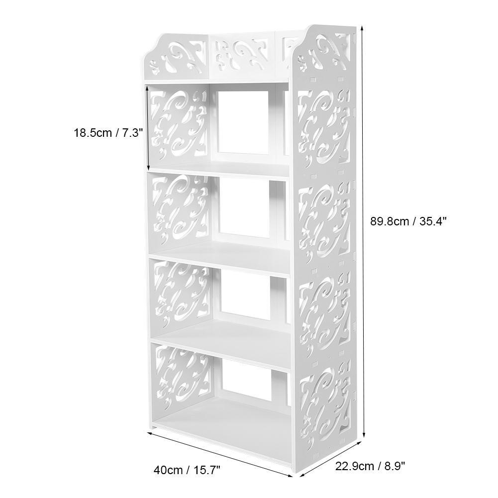 estante de almacenamiento de talla de 5 niveles Gabinete de zapatos Estante de almacenamiento de zapatos de madera Organizador Estante Unidad para sala de estar Pasillo Entrada Bla Estante de zapatos
