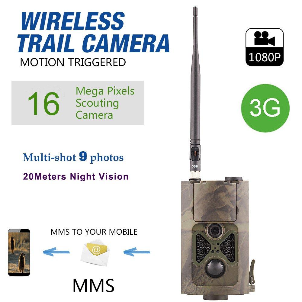 Hc-550g Chasse Camera Wild Piège à infrarouge HD 16MP SMS MMS SMTP GPRS 3G 120degrés Hunter Jeu Trail Forest Wildlife Camera zhenyjab