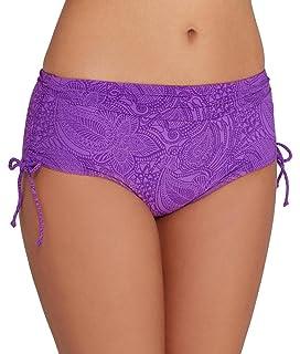 Fantasie Cape Verde Womens Adjustable Leg Bikini Brief Shorts Blue Marina Small