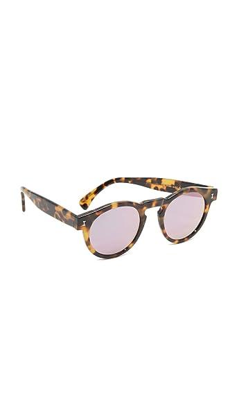 Amazon.com: illesteva Mujer Leonard espejo anteojos de sol ...